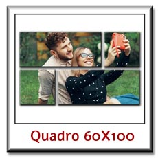 Stampa su tela con foto personali personalizzati cm 60 x 100 su pannelli divisi