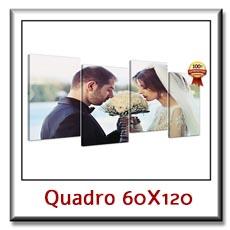 Quadro su tela canvas diviso in pannelli con la tua foto  cm 60 x 120