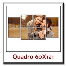 Quadro con foto personalizzato su tela su pannelli cm 60 x 121