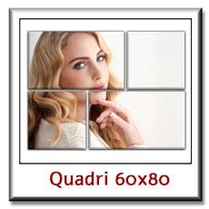 Quadri con le tue foto personalizzati su pannelli cm 60 x 80