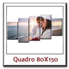 Quadro moderno con foto su pannelli cm 80 x 150