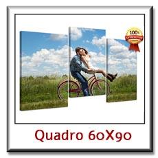 Quadro con foto su tela canvas moderno per arredare cm 60 x 90