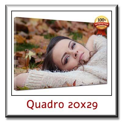 Quadro personalizzato con foto su tela quadro moderno cm 20x29