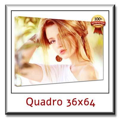 Quadro personalizzato con foto su tela cm 36x64